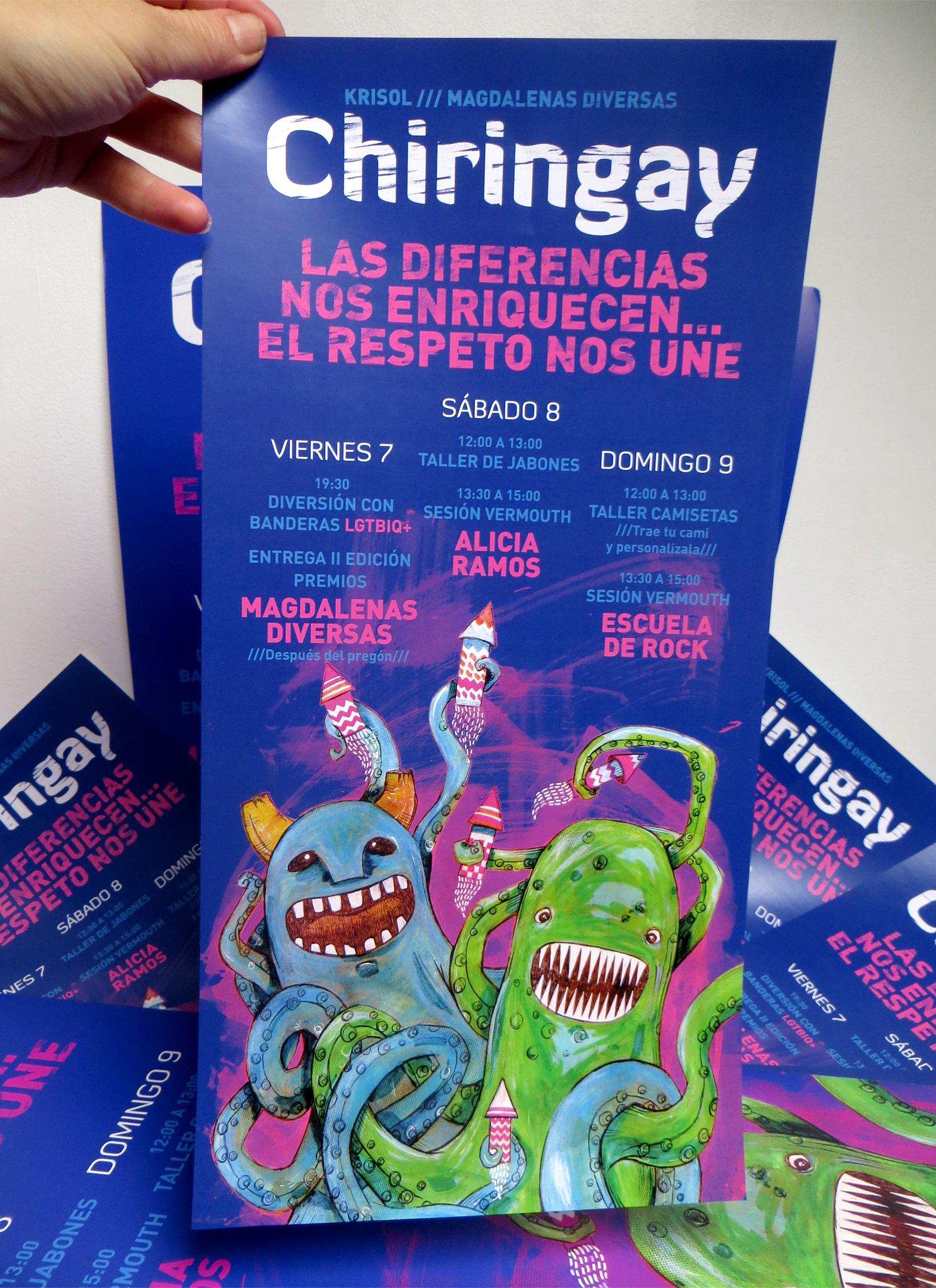 Cartel Chiringay. Laura Bustos Ilustración.