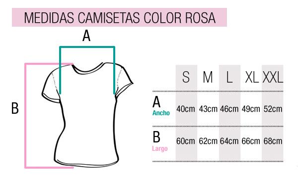 Medidas camisetas rosas
