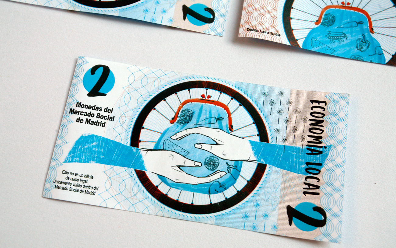 Diseño billete Mercado Social de Madrid