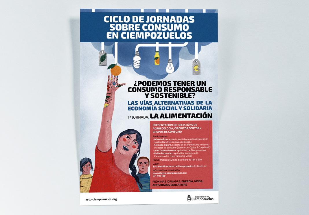 Cartel Ciclo de jornadas sobre consumo en Ciempozuelos