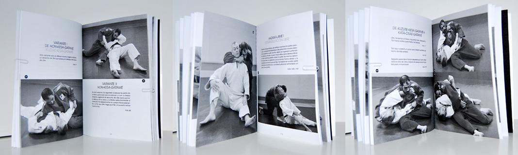 Judo suelo, diseño de libro
