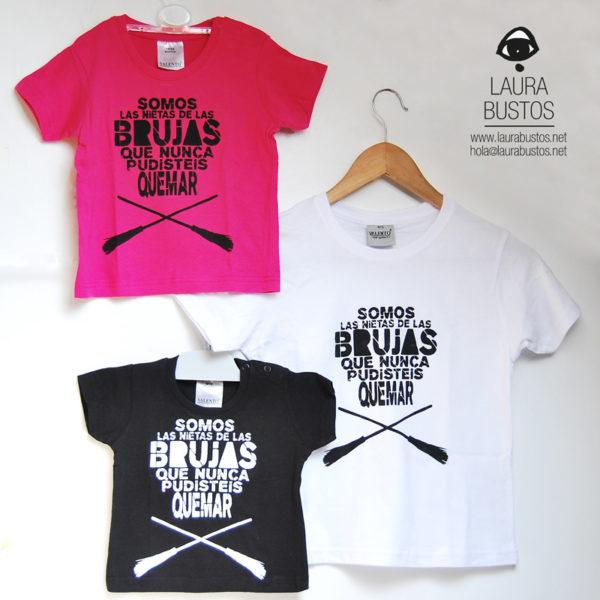 Camiseta. Somos las nietas de las brujas que nunca pudisteis quemar