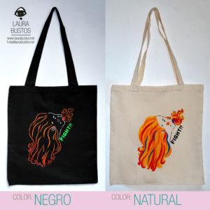 Tote Bag algodón orgánico. Feminista. Fight