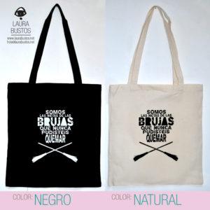 Tote Bag algodón orgánico. Feminista. Somos las nietas