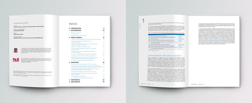 Diseño de Informe, interiores