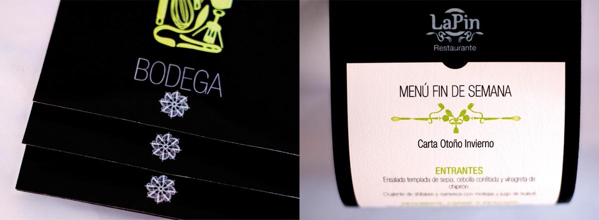 Diseño de imagen corporativa para restaurante carta de vinos